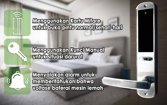 Jual Kunci Hotel Apartemen/ Hotel Lock Murah Jogjakarta Magelang Salatiga Purworejo Purwokerto Balikpapan Solo Klaten Boyolali