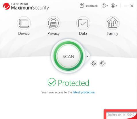 Screenshot Trend Micro Maximum Security 15.0.1204 Full Version
