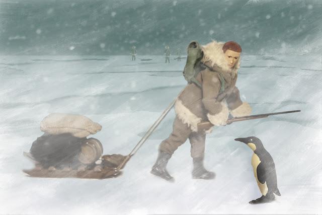 aventuras y exploraciones Madelman en los polos de la tierra