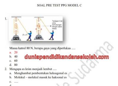 Prediksi Soal Pretest Dan Kunci Jawaban Ppg/ Ppgj Tahap Two 2018 Model A, B, C Dan Pedagogik Terbaru