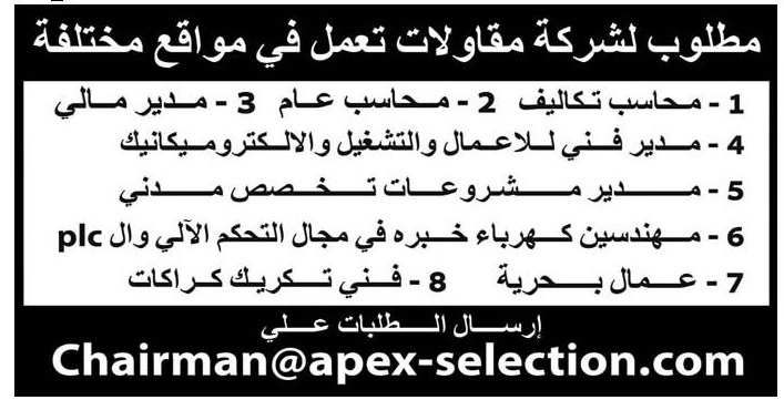 وظائف وسيط الاثنين القاهرة والاسكندرية  21 ديسمبر 2020 جميع التخصصات
