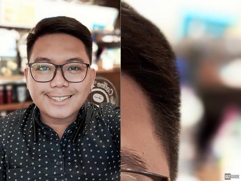 Selfie with depth effect