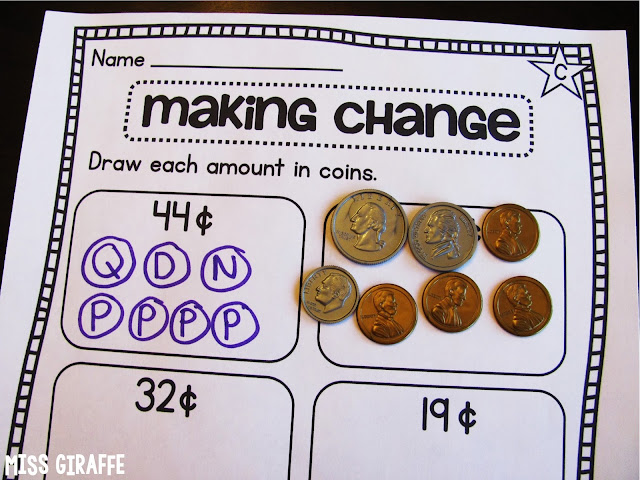 Making change worksheets that make it fun for kids to learn how to count coins!
