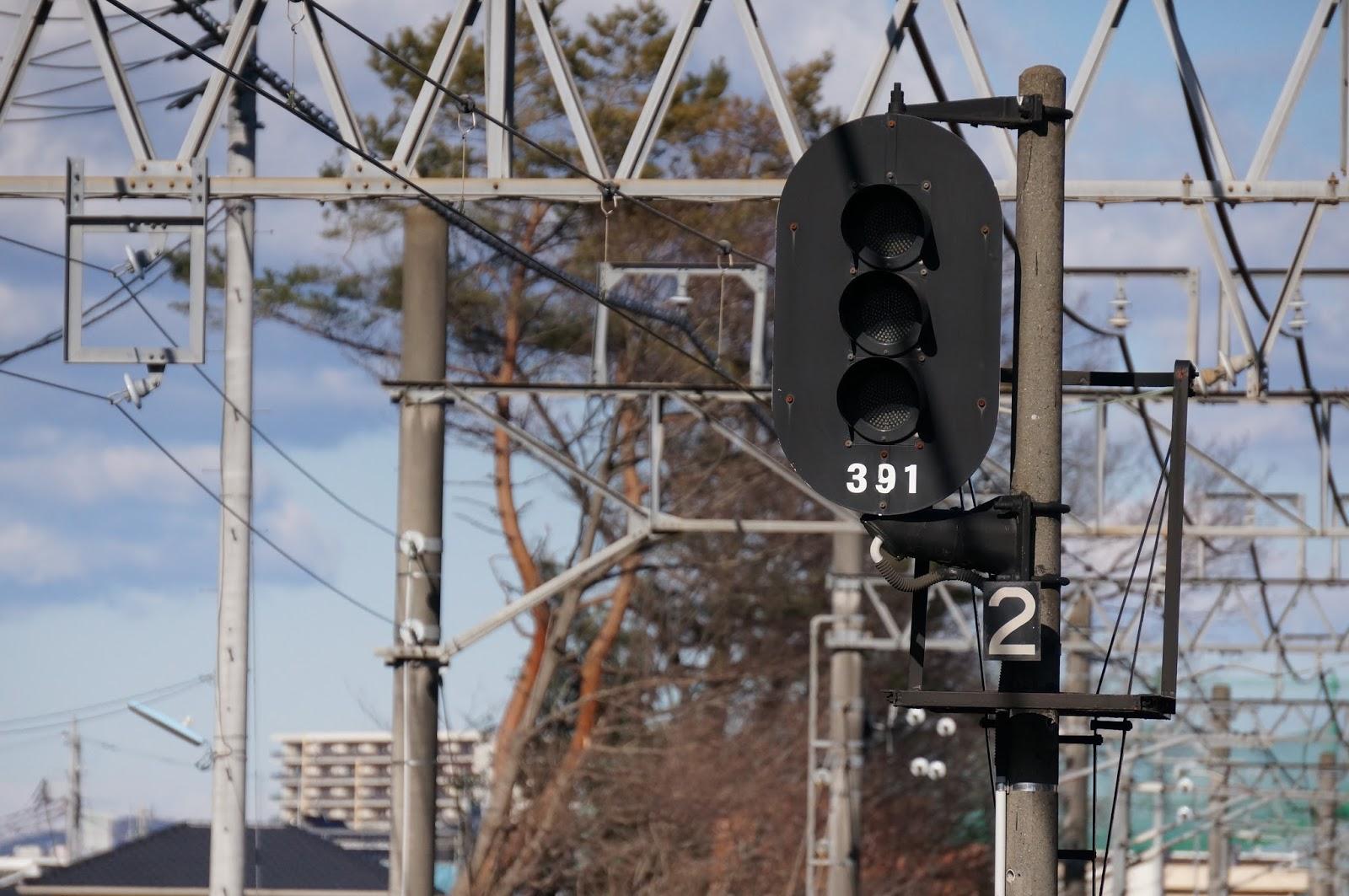 東武東上線若葉駅の信号機