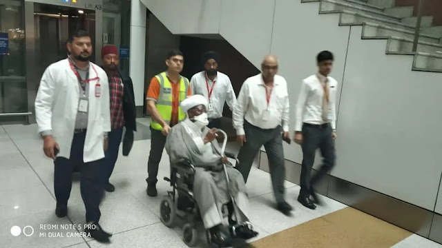 El-Zakzaky arrives India for treatment [Photos]