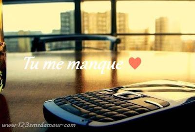 Message d'amour tu me manque grave