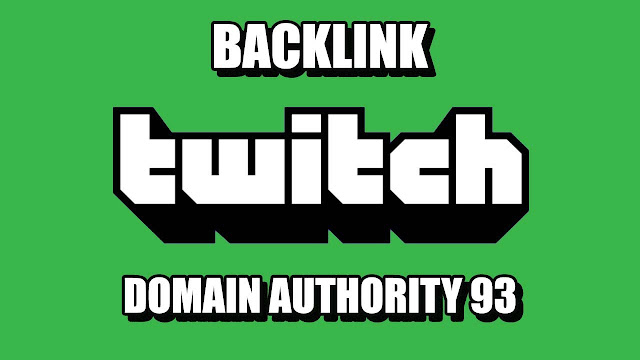 Free Backlink Twitch TV Domain Authority 93