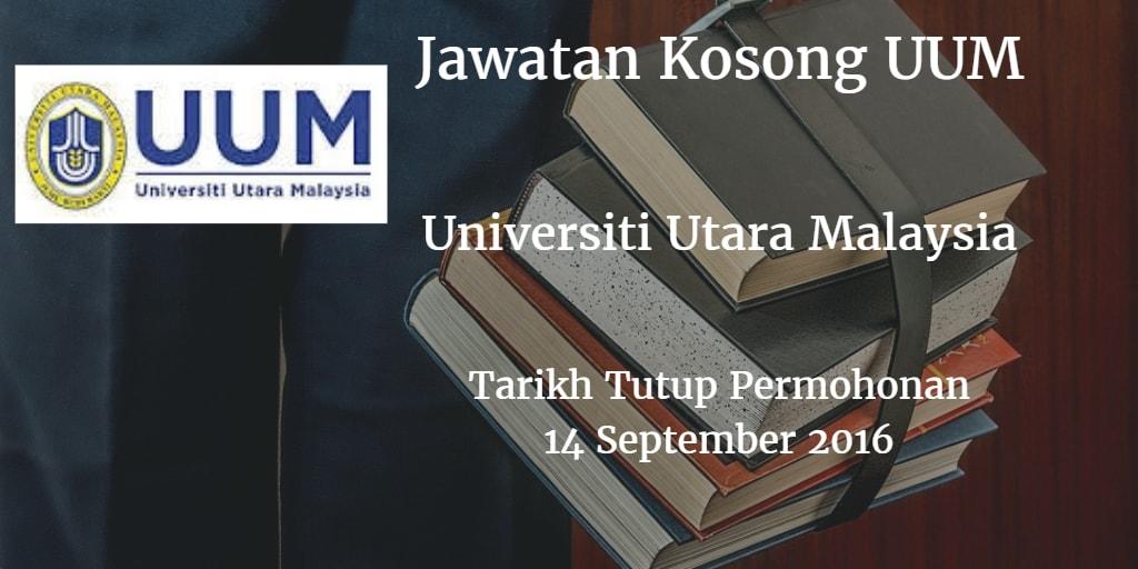 Jawatan Kosong UUM 14 September 2016