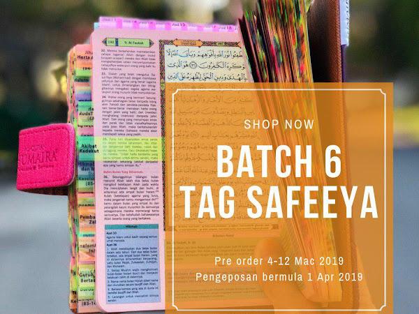 Pre Order Batch 6 383 Tag Al Quran Tagging Kini Dibuka