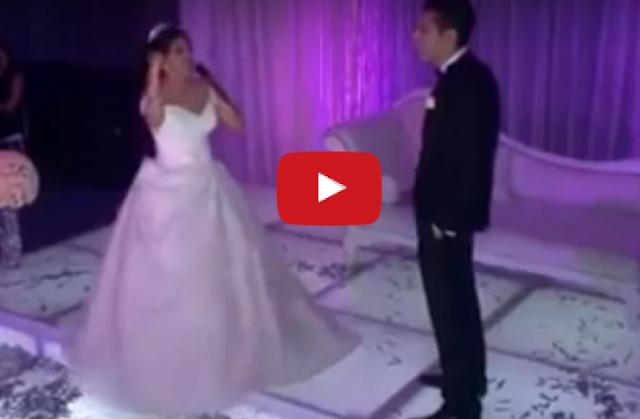 أحضرت لعريسها مفاجأة غير متوقعة في حفل زفافهما!  شاهدوا ماذا فعلت لزوجها في ليلة زفافهم ...