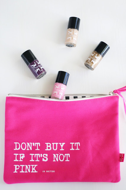 Make up bag, British made, Nail paints