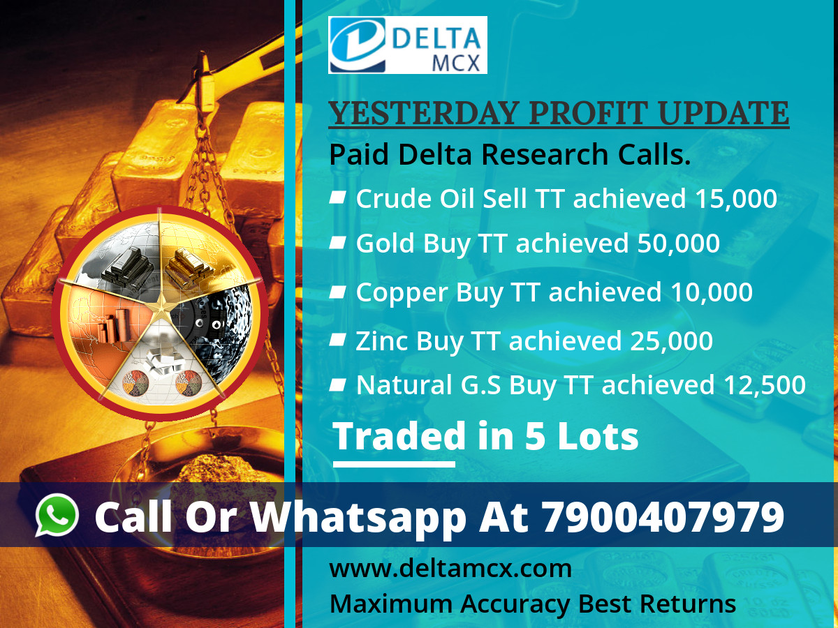DELTAMCX ONE DAY FREE TRIAL INTRADAY TIPS IN ALL MCX Call Or