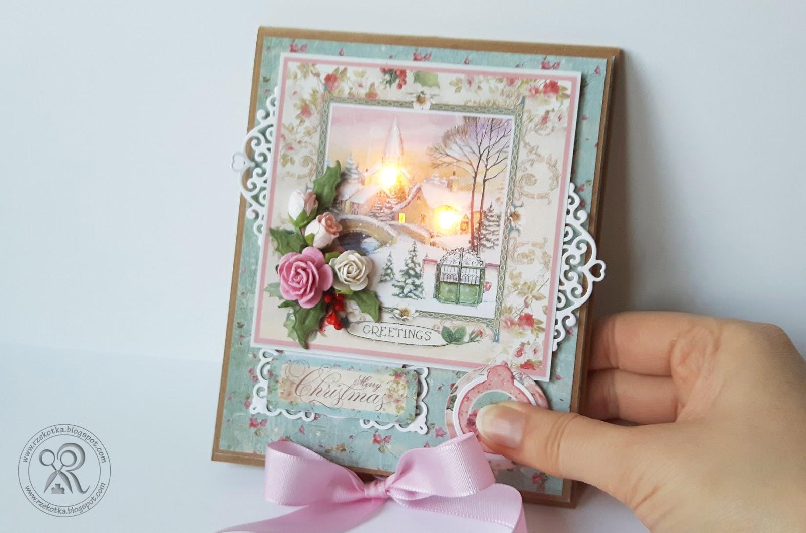 Kartka świecąca i rozgrzewająca
