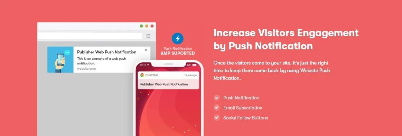 Publisher push notification feature