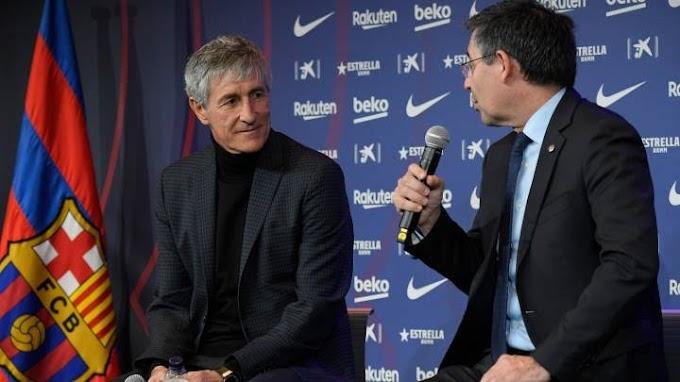 Quique Setien's future at Barca was never in doubt: Bartomeu confirms Setien Stay.