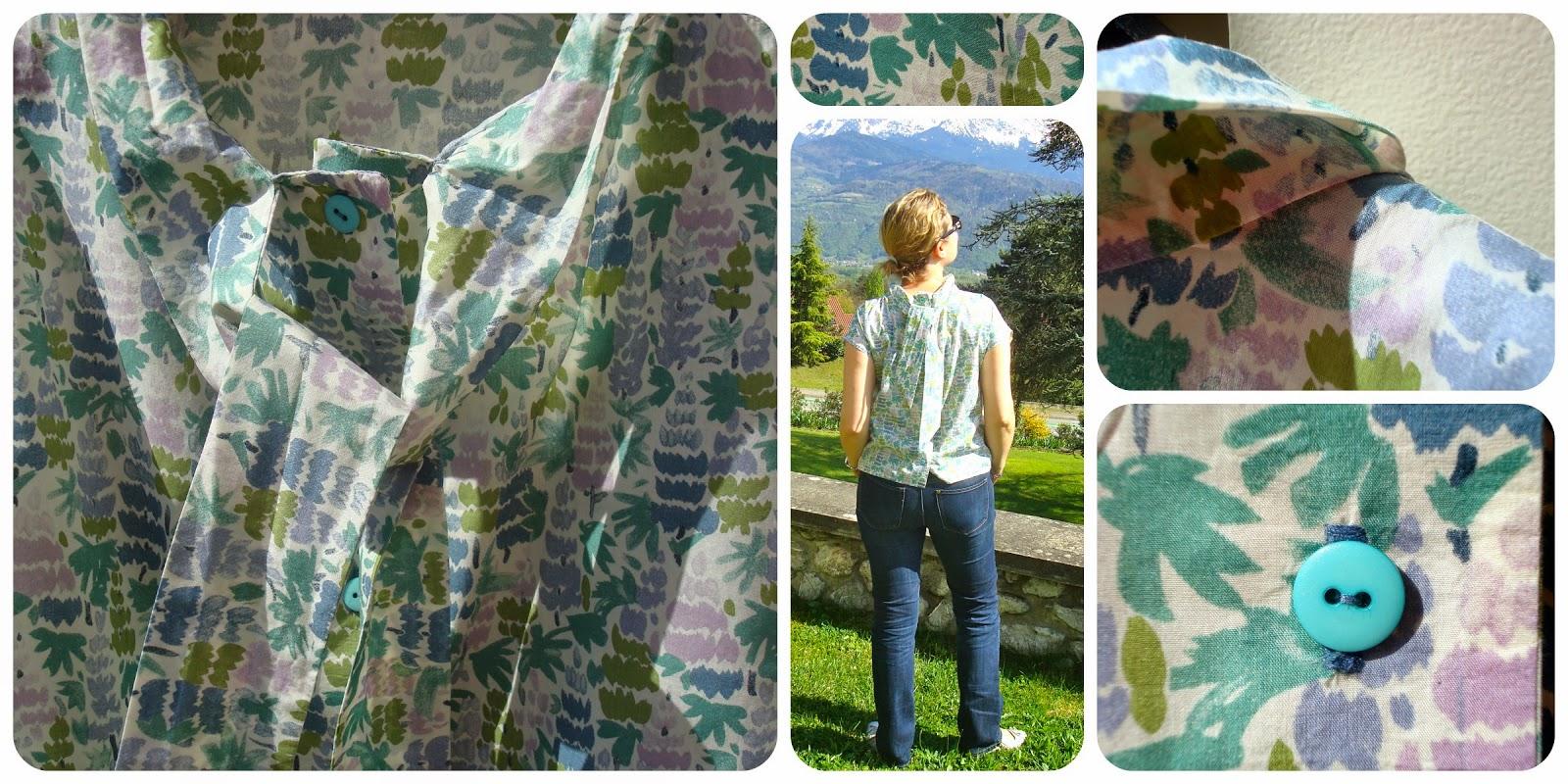 Tadaam !  Haut foulard en Liberty vintage 868070eb7ac