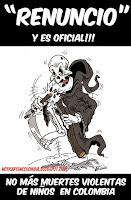 GALERÍA DE CARICATURAS PARA EXIGIR RESPETO POR LA VIDA DE LOS NIÑOS Y EN GENERAL EN COLOMBIA