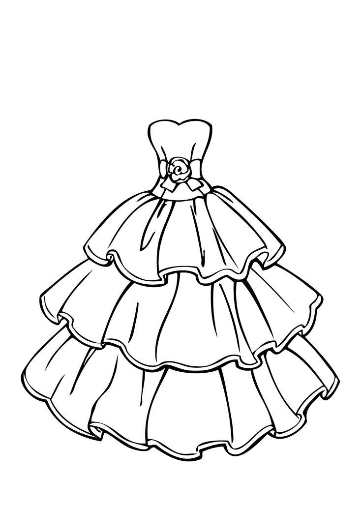 Los dibujos para colorear : Dibujos de ropa para colorear