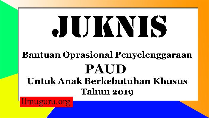 Juknis BOP PAUD ABK 2019