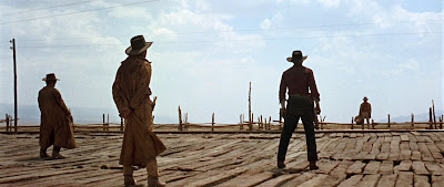 The opening shoot-out sequence in Once Upon a Time in the West, Spaghetti Western masterpiece, Directed by Sergio Leone