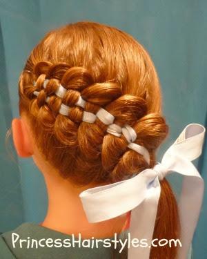 Wondrous Checkerboard French Braid Hairstyle Hairstyles For Girls Short Hairstyles For Black Women Fulllsitofus