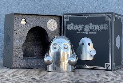 Tiny Ghost Stainless Steel Figure by Reis O'Brien x Bimtoy x Bottleneck Gallery
