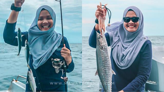 pancing ikan kembong dan tenggiri