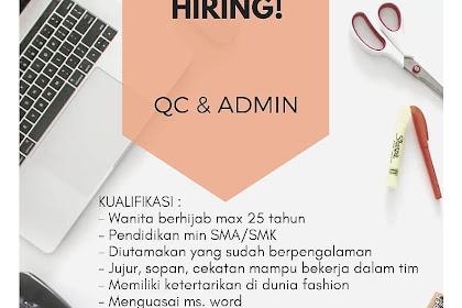 Lowongan Kerja Admin dan Quality Control  REREY SHOP Tasikmalaya