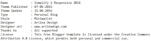 Template Simplify 2 Responsive 2016