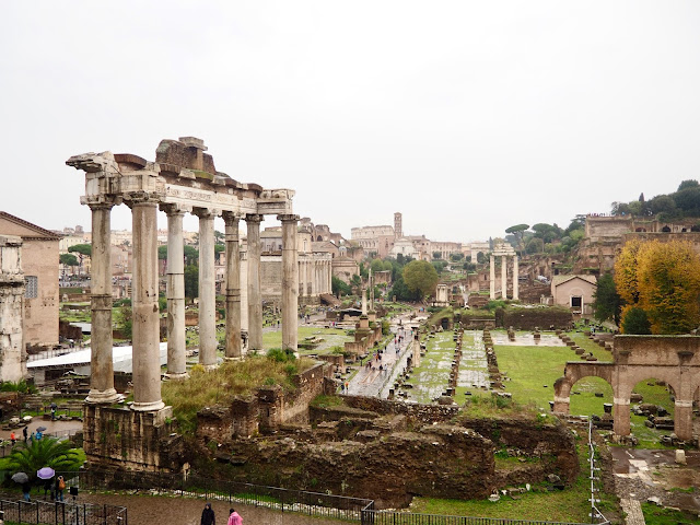 Roman Forum from Capitoline Hill, Rome, Italy