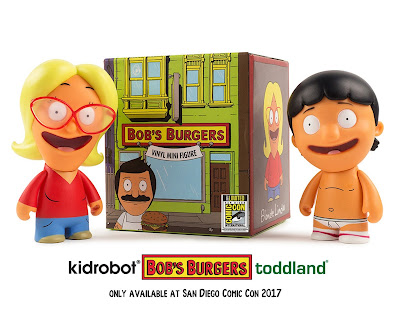 "San Diego Comic-Con 2017 Exclusive Bob's Burgers Blonde Linda & Underpants Gene 3"" Vinyl Figures by toddland x Kidrobot"