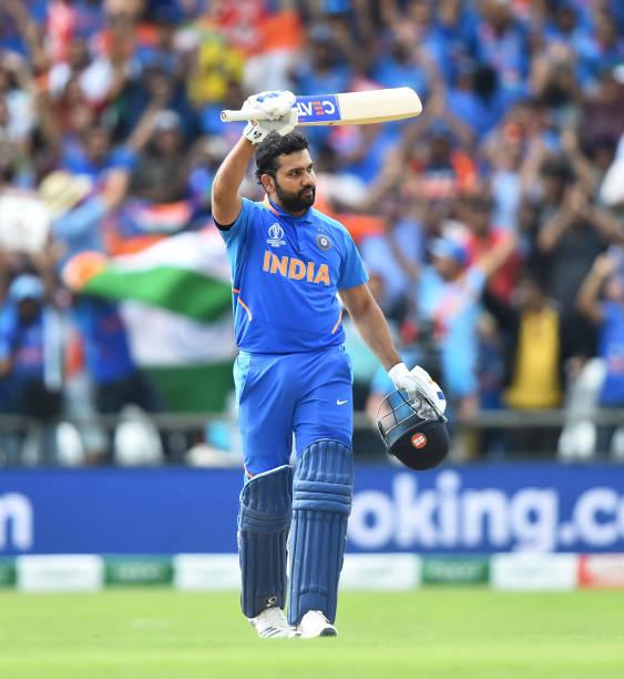Rohit Sharma celebrating his Century