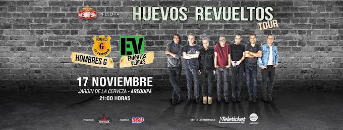 Hombres G y Enanitos Verdes en Arequipa, Precio de entradas , 17 de nov