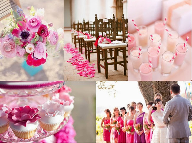 A Pink and Purple Wedding Color Palette