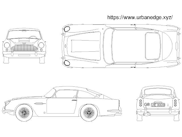 Aston Martin Car cad block free download