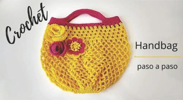 Cómo tejer un bolso handbag a crochet fácil y rápido