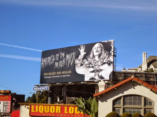 The Heart She Holler season 3 Adult Swim billboard