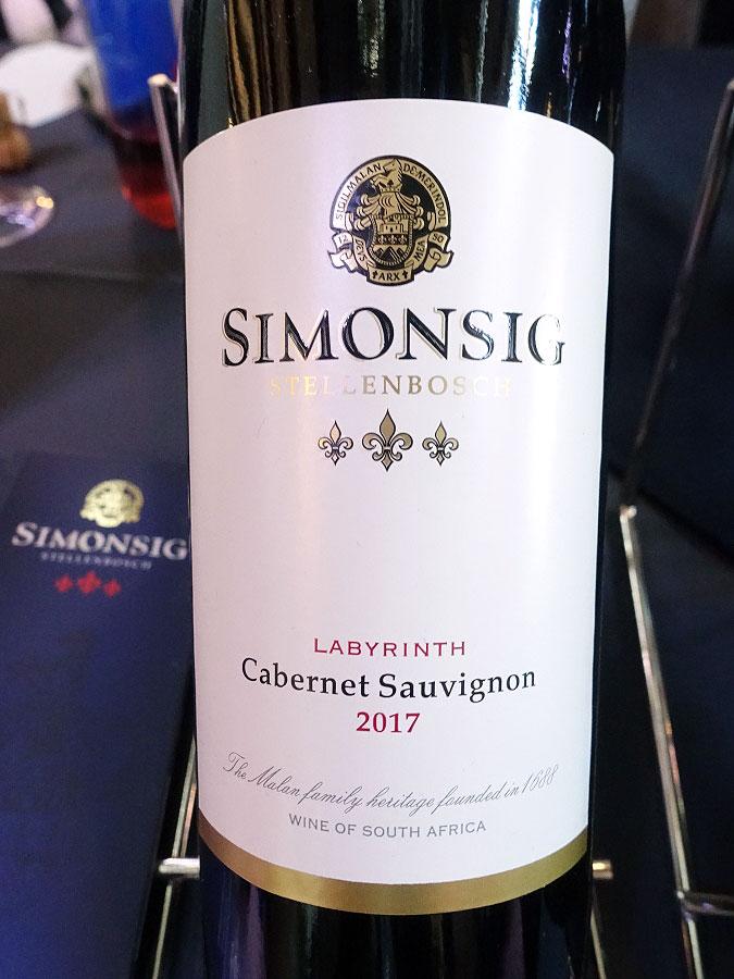 Simonsig Labyrinth Cabernet Sauvignon 2017 (89 pts)