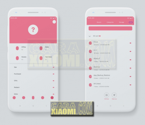 Download Link MIUI Theme Paradox Pink V2 For Xiaomi Update Desain Terbaru