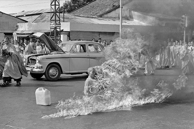 Thích Quảng Đức's self-immolation by Malcolm Browne