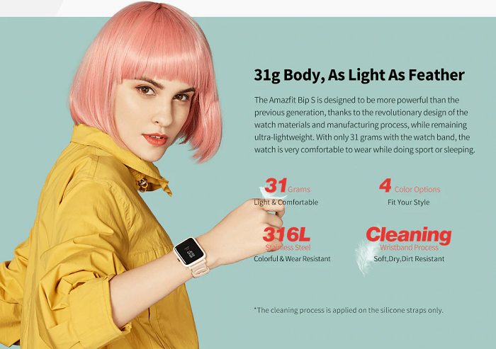 Amazfit Bip S Smartwatch Weight