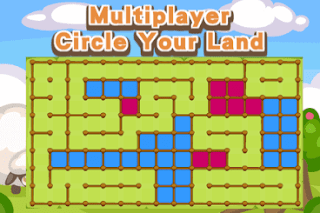 This is multiplayer game in which your have to cover more area of the land.