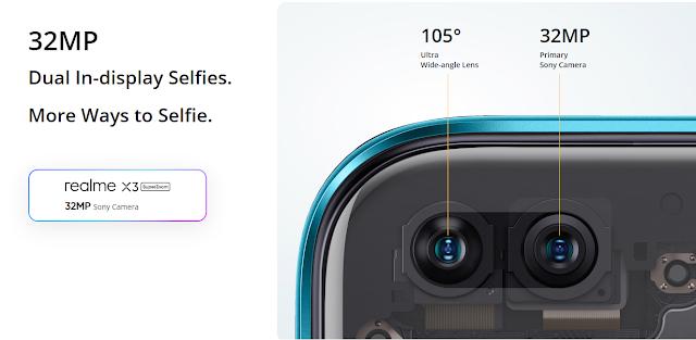 Superzoom Realme x3 selfies mode.