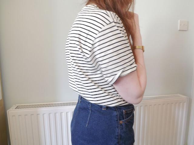 breton stripe, striped tee, primark