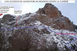 Ezcaray, San Torcuato, hielo en La Rioja