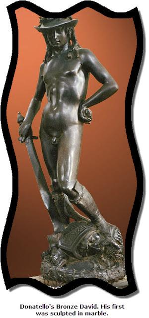 David. Bronze. Artist: Donatello. Florence, Italy