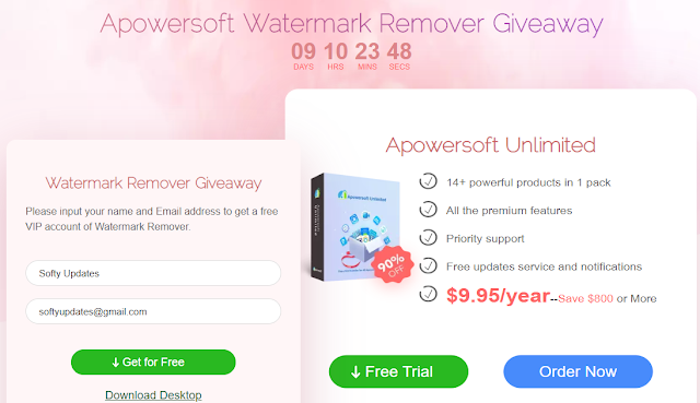 Apowersoft Watermark Remover Free 1 Year