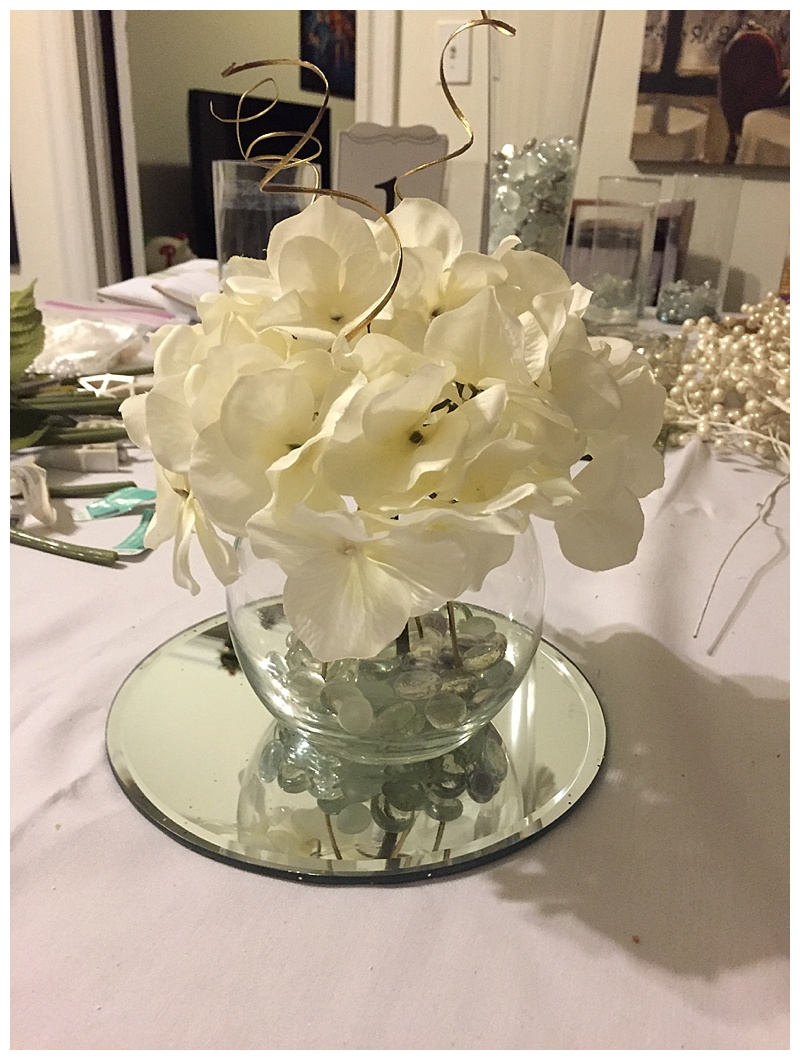 Wediquette and parties diy hydrangea wedding centerpieces