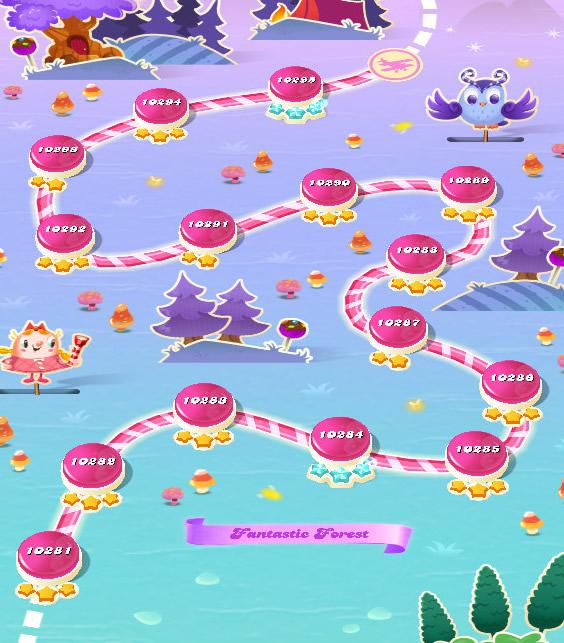 Candy Crush Saga level 10281-10295