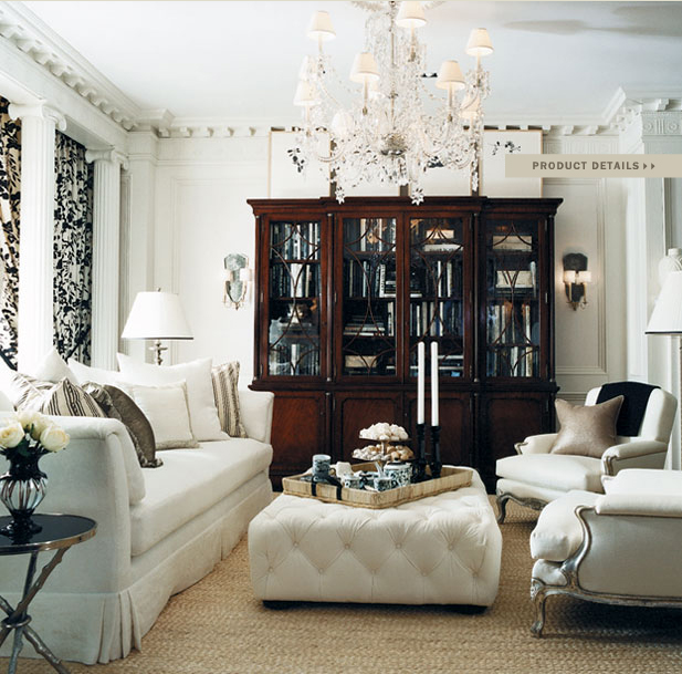 White Home Interior Design Luxury Living Rooms: Color Outside The Lines: Ralph Lauren Home Collections